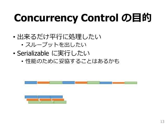 トランザクションの並行処理制御