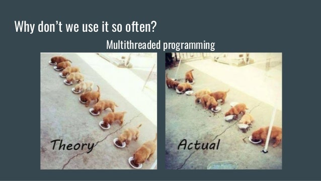 Why don't we use it so often? Multithreaded programming
