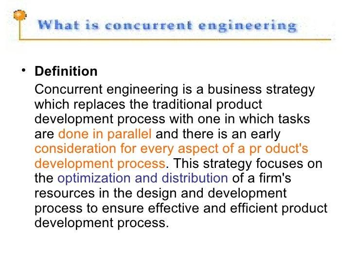 Concurrent Engineering Process