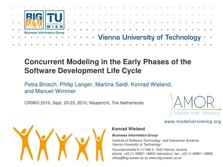 Concurrent Modeling in the Early Phases of the Software Development Life Cycle Petra Brosch, Philip Langer, Martina Seidl,...