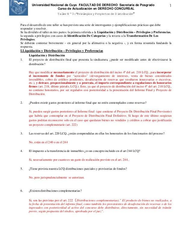 Universidad Nacional de Cuyo FACULTAD DE DERECHO Secretaria de Posgrado                                        1          ...