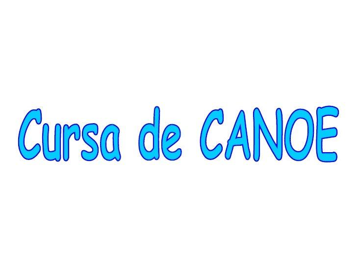 Cursa de CANOE