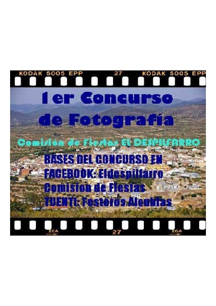 """I Concurso portada del libro de fiestas                        """"Despilfarro 2011""""  Contenido:         La Comisión de Fiest..."""
