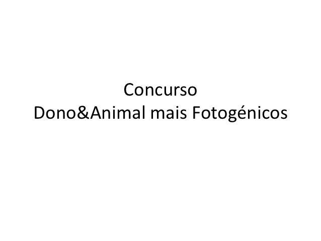 ConcursoDono&Animal mais Fotogénicos