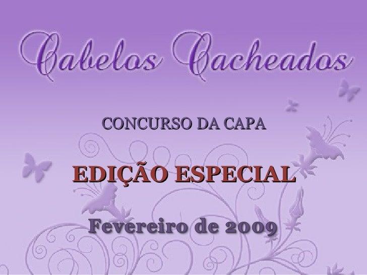 CONCURSO DA CAPA EDIÇÃO ESPECIAL