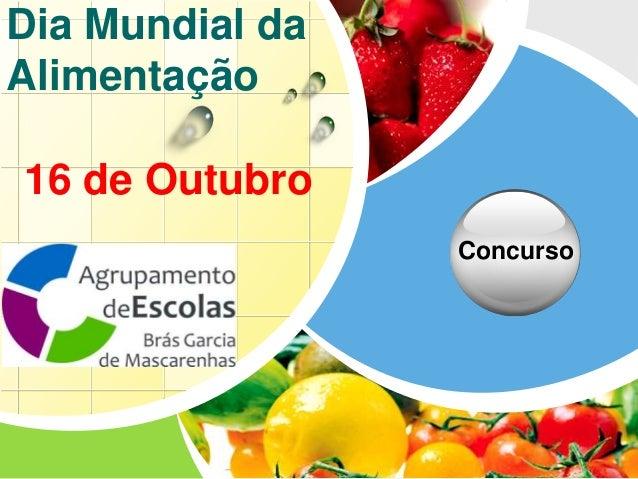 L/O/G/O Dia Mundial da Alimentação Concurso 16 de Outubro