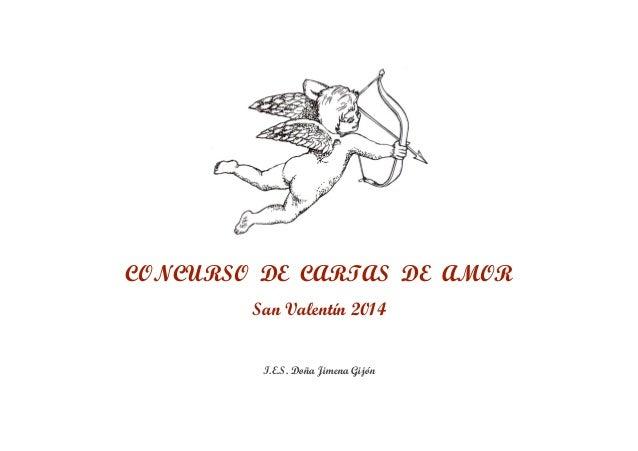 CONCURSO DE CARTAS DE AMOR San Valentín 2014 I.E.S. Doña Jimena Gijón