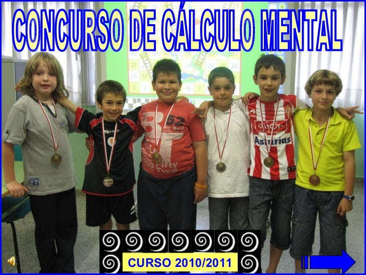 CONCURSO DE CÁLCULO MENTAL CURSO 2010/2011