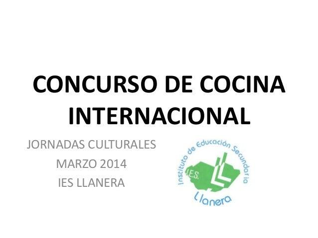Concurso de cocina internacional - Concurso de cocina ...