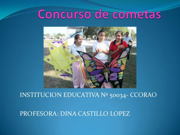 INSTITUCION EDUCATIVA Nº 50034- CCORAOPROFESORA: DINA CASTILLO LOPEZ