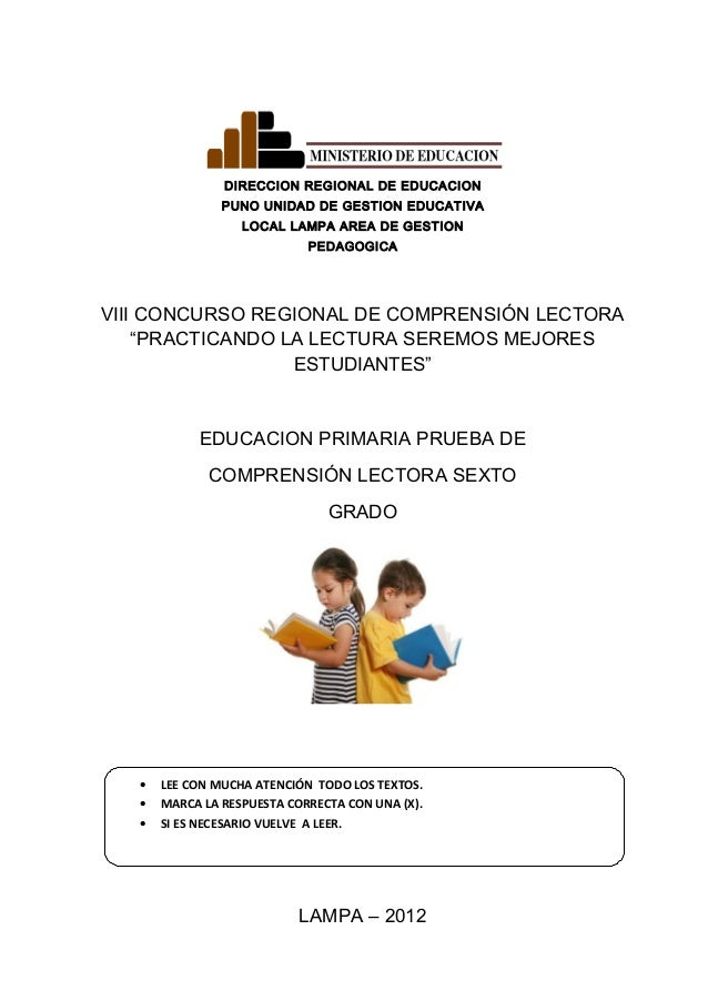 DIRECCION REGIONAL DE EDUCACION PUNO UNIDAD DE GESTION EDUCATIVA LOCAL LAMPA AREA DE GESTION PEDAGOGICA VIII CONCURSO REGI...