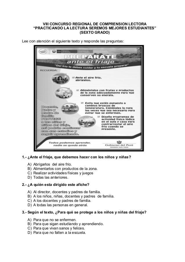 Concurso de comprension lectora 1º a 6º  2012 Slide 2