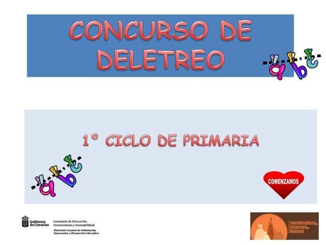 CONCURSO DE DELETREO