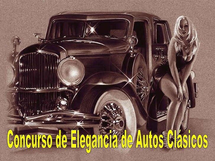 Concurso de Elegancia de Autos Clásicos