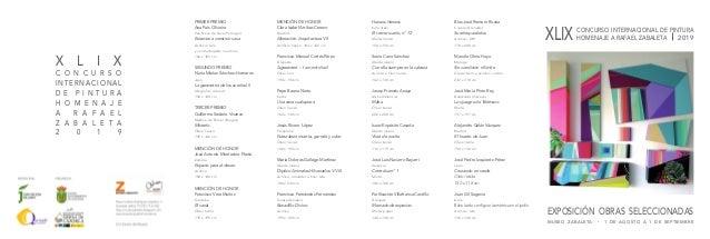 XLIX CONCURSO INTERNACIONAL DE PINTURA HOMENAJE A RAFAEL ZABALETA 2019 EXPOSICIÓN OBRAS SELECCIONADAS MUSEO ZABALETA • 1 D...
