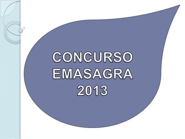 Concurso emasagra 2013