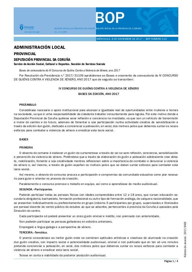 BOPBOLETÍN OFICIAL DA PROVINCIA DA CORUÑA BOLETÍN OFICIAL DE LA PROVINCIA DE A CORUÑA www.dacoruna.gal MIÉRCOLES, 8 DE NOV...