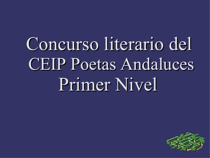 Concurso literario del  CEIP Poetas Andaluces Primer Nivel