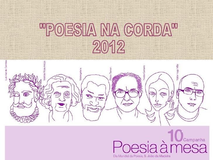 POESIA NA CORDA 2012