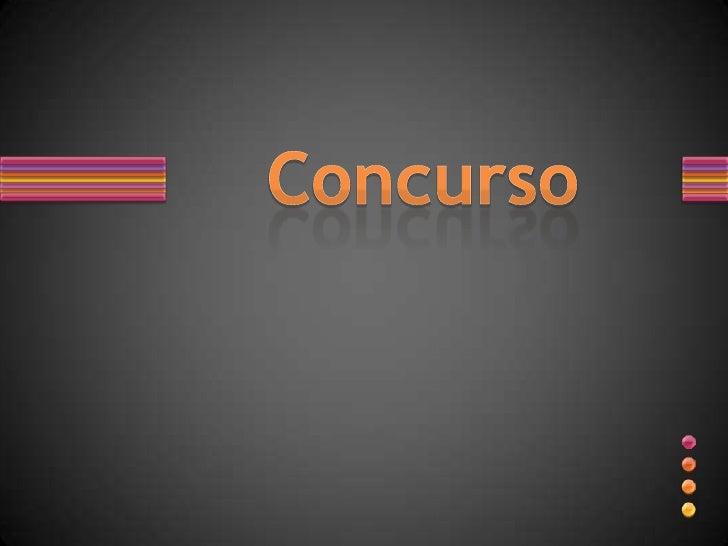 Concurso<br />