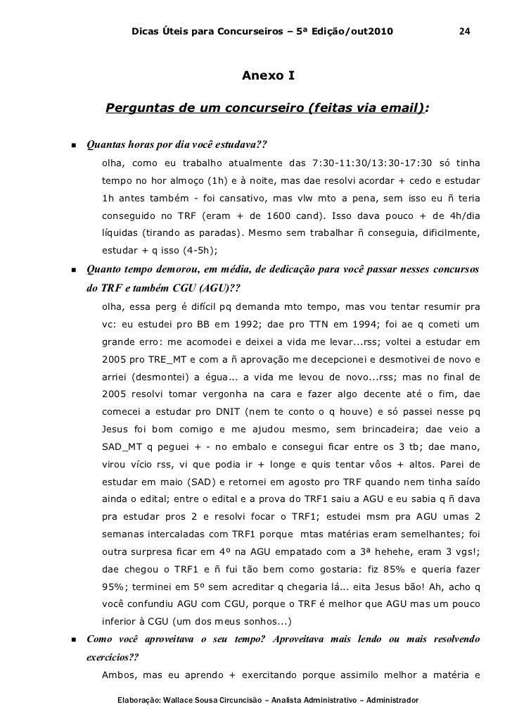 Dicas Úteis para Concurseiros – 5ª Edição/out2010                              24                                         ...