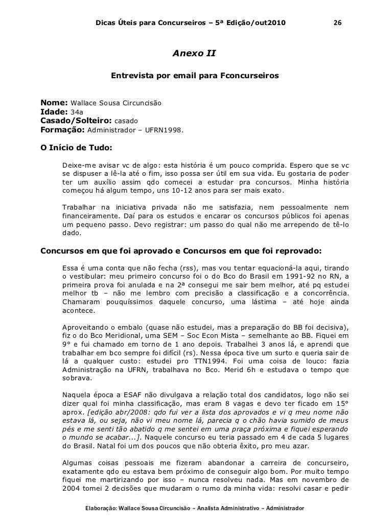 Dicas Úteis para Concurseiros – 5ª Edição/out2010                              26                                         ...