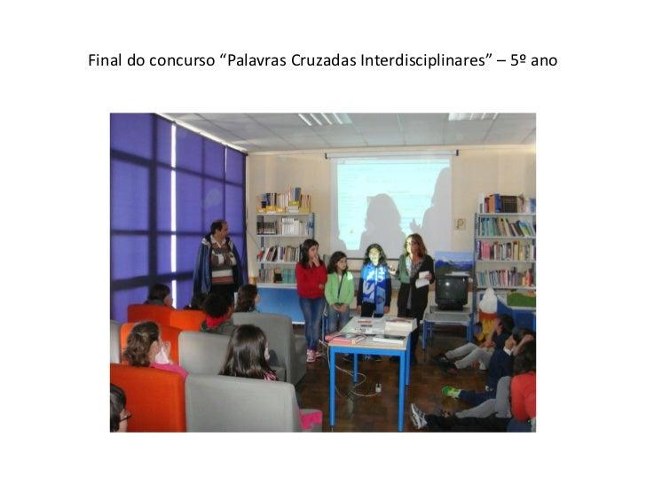 """Final do concurso """"Palavras Cruzadas Interdisciplinares"""" – 5º ano"""