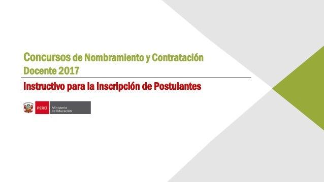 Concursos de nombramiento y contrataci n docente 2017 for Concurso docentes 2017