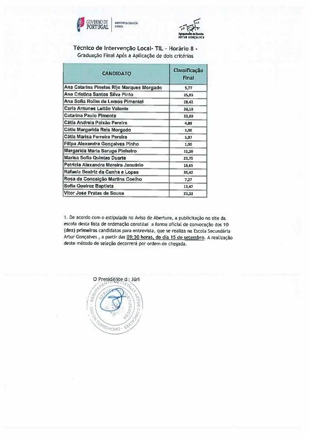 Técnico de Intervenção Local - Contratação de Escola