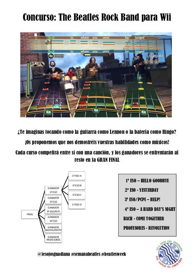 Concurso: The Beatles Rock Band para Wii ¿Te imaginas tocando como la guitarra como Lennon o la batería como Ringo?    ¡Os...