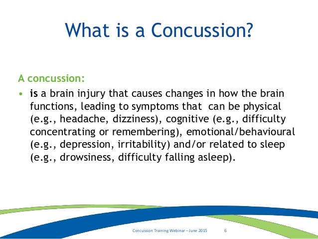 concussion identification  management and prevention