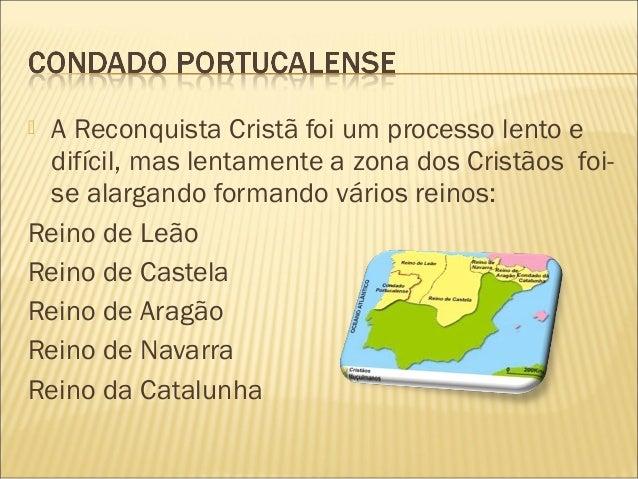  A Reconquista Cristã foi um processo lento edifícil, mas lentamente a zona dos Cristãos foi-se alargando formando vários...