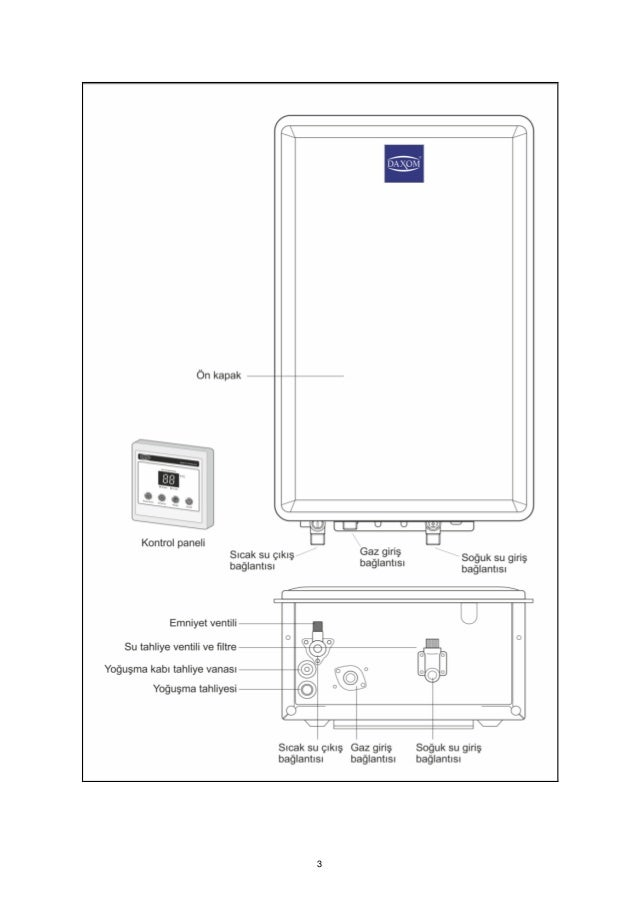 Condensing gas water heater manuel Slide 3