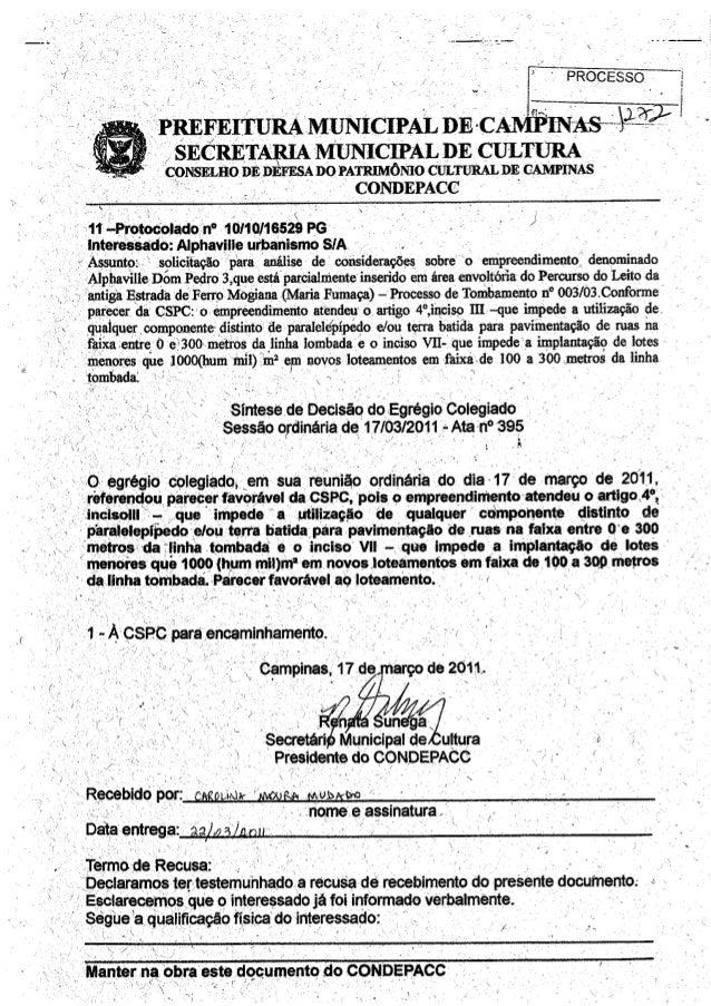 Condepacc emite dois pareceres contrarios para Alphaville Dom Pedro 2 e 3