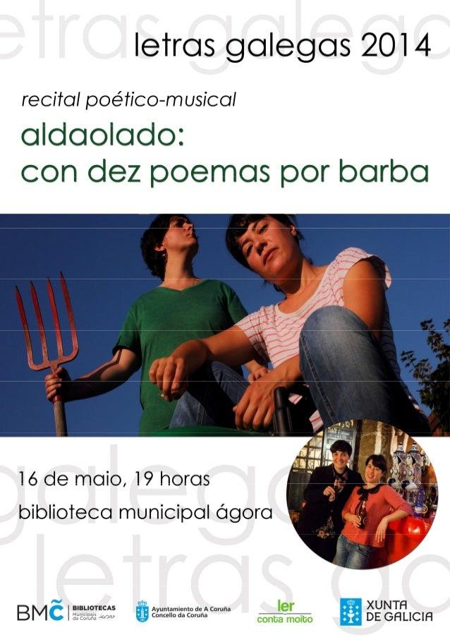 """Recital poético-musical """"Con dez poemas por barba"""""""