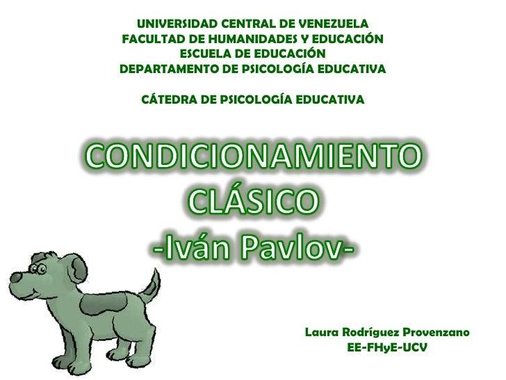 UNIVERSIDAD CENTRAL DE VENEZUELAFACULTAD DE HUMANIDADES Y EDUCACIÓN        ESCUELA DE EDUCACIÓNDEPARTAMENTO DE PSICOLOGÍA ...
