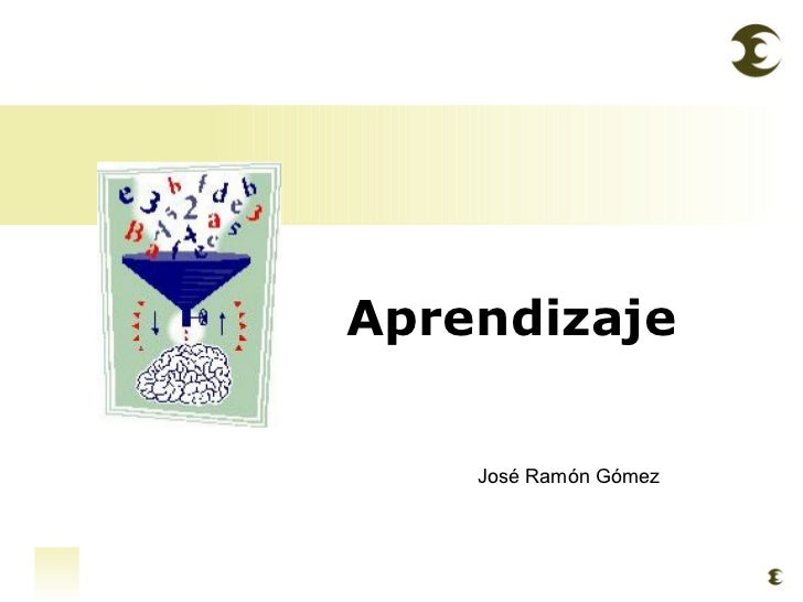 Aprendizaje José Ramón Gómez