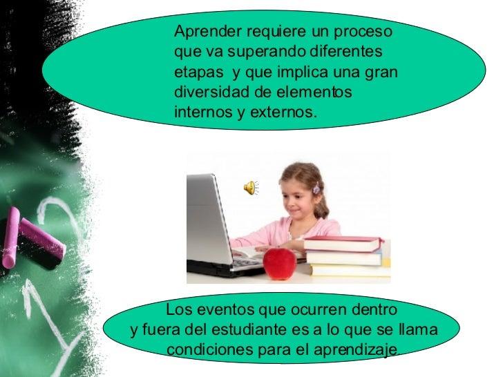 Condiciones del aprendizaje Slide 2