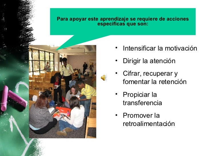 Condiciones del aprendizaje Slide 3