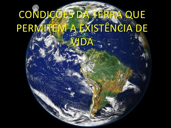 CONDIÇÕES DA TERRA QUE PERMITEM A EXISTÊNCIA DE VIDA<br />