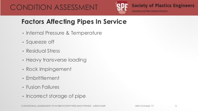 conditional assessment of in service HDPE pipelines