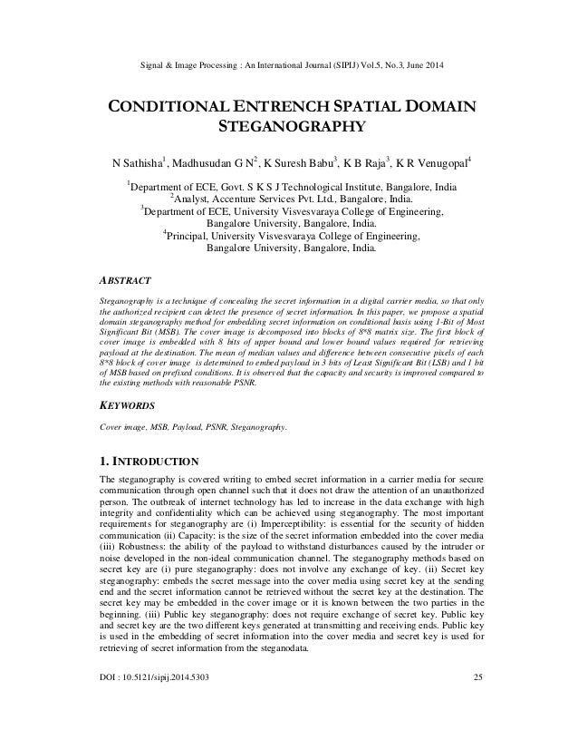 Signal & Image Processing : An International Journal (SIPIJ) Vol.5, No.3, June 2014 DOI : 10.5121/sipij.2014.5303 25 CONDI...