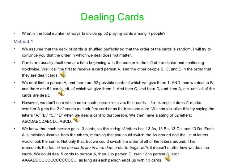 Probability With Cards