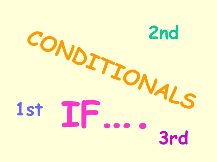 CONDITIONALS 1st 2nd 3rd IF ….