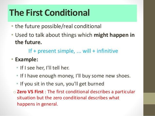 Resultado de imagen para first conditional