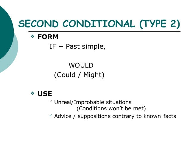 Conditionals 3 Types 4th Eso