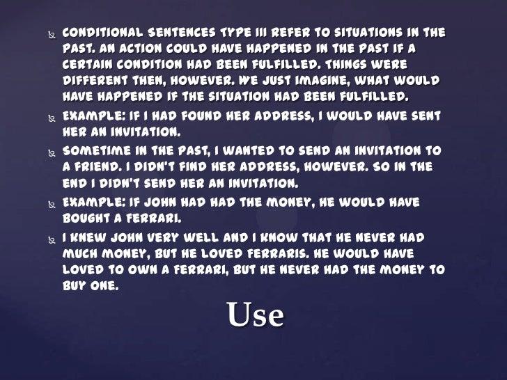 Conditional sentence type 3 8 conditional sentences stopboris Gallery
