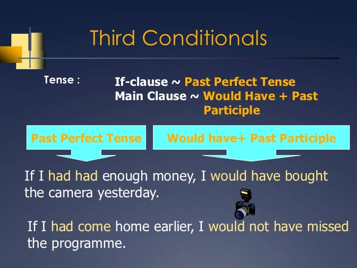 past tense and conditional clause A conditional sentence is made up of a si clause (also known as a condition clause) and a result, or main, clause only four tenses of the indicative mood (the.