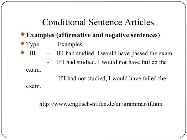 Conditional sentences article.