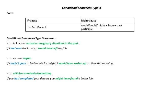 Conditional Sentences Type 3